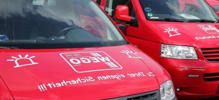 Fahrzeuge der Gefahrenmeldetechnik WEGO GmbH